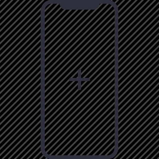add, create, device, iphone, iphone 10, iphone x, iphone10, iphonex, mobile, new, plus, smartphone, user icon