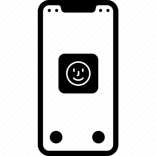 device, faceid, iphone, iphone x, iphonex, mobile, technology icon