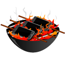 apple, barbeque, bbq, grill, iphone icon