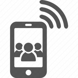 android, call, iphone, mobile, network, wireless icon