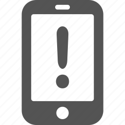 alert, android, danger, error, iphone, mobile, warning icon
