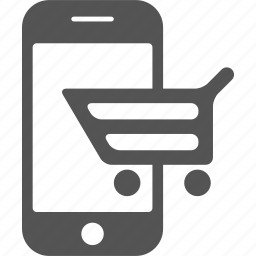 android, call, cart, iphone, mobile, phone, shopping icon
