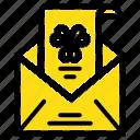 e, envelope, greeting, invitation, mail