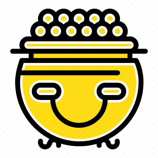 fortune, gold, luck, patricks, pot icon