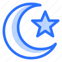 arabic, islam, islamic, moon, muslim, religion, stars icon