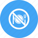 fast, fasting, food, islamic, muslim, no, ramadan icon