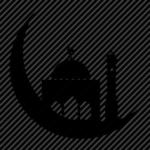Crescent, Islamic, Logo, Moon, Mosque, Mubarak, Ramadhan Icon