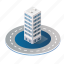 apartment, architecture, building, city, industry, isometric icon