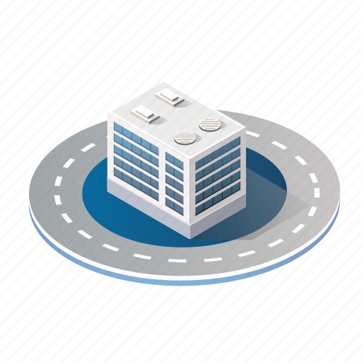 Apartment, architecture, building, city, industry, isometric icon - Download on Iconfinder