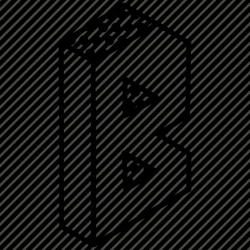 3d alphabet, alphabet, english, kindergarten, letter a icon