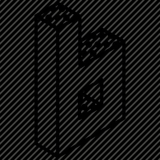 3d digit, 3d number, 3d numeric, 3d six, 3d typography icon