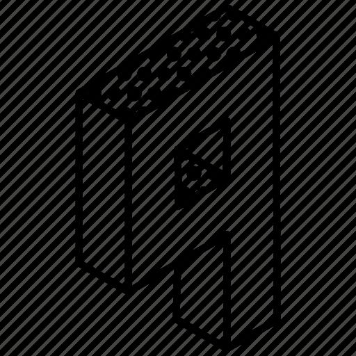 3d digit, 3d nine, 3d number, 3d numeric, 3d typography icon