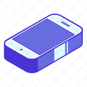 call, cellphone, device, isometric, phone icon