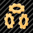 gears, mechanics, mechanism, spares icon