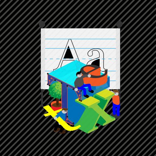 creative, design, format, grid, text, typo, typographic icon