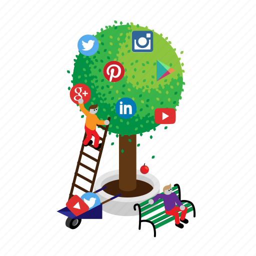 Google, instagram, linkedin, media, social, tree, twitter icon - Download on Iconfinder