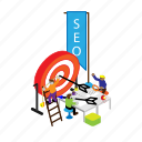 goal, pr, promo, promotion, public, seo, target icon