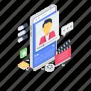newsletter, online content, video blog, vlog, webblog icon