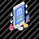 banking app, e banking, internet banking, mobile banking, smartphone banking icon