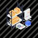 inventory, product guarantee, product rack, storeroom, warehouse icon