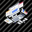 market analysis, online data, online graph, performance analytics, search data icon