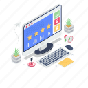 feedback, online ranking, online survey, rating, reputation management icon