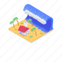 flood, natural disaster, sea storm, tropical storm, water storm icon
