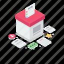 letter box, suggestion box, ballot box, complaint box, po box icon