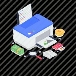 inkjet printer, office printer, printing machine, typesetter, typographer