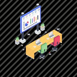 board meeting, business analytics, business presentation, growth chart, meeting room, project presentation, seminar