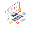 business analytics, data quality, growth chart, quality assurance, quality project icon