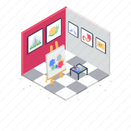 art area, art exhibition, art studio, creative studio, graphic studio