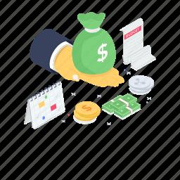 asset, budget planner, cash, investment, presenting finance, savings