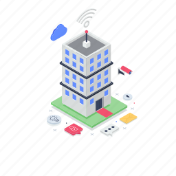 connected building, high rise building, infrastructure, skyscraper, smart building