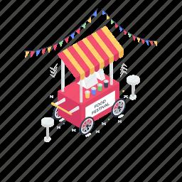 food festival, food kiosk, food stall, street food, vender booth, vendor food