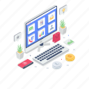 online shopping, online spending, product feed, shopping website, smart marketing, webshop icon