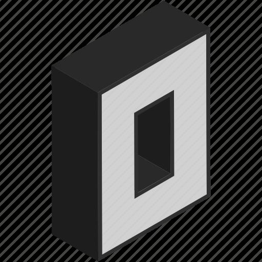 digit, isometric, none, null, number, zero icon