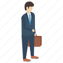 business consultant, business person, businessman, entrepreneur, industrialist icon