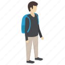 college student, school student, student, student services, undergraduate icon
