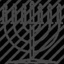 hanukkah, hebrew, jewish, jews, judaism, lampstand, menorah icon