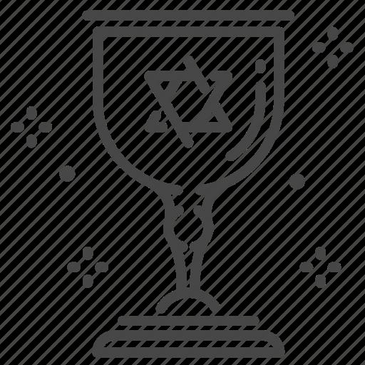 Goblet, jewish, jews, kiddush cup, sabbath icon - Download on Iconfinder