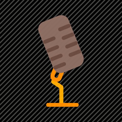 mic, microphone, music, sound, speaker, speech, stand icon