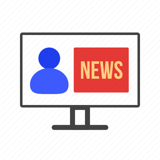 Broadcasting, journalist, microphone, news, reporter, studio, tv icon - Download on Iconfinder