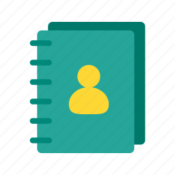 address, book, business, contact, diary, organizer, schedule icon