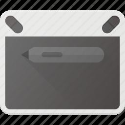 draw, pad, pen, tab, wacom icon