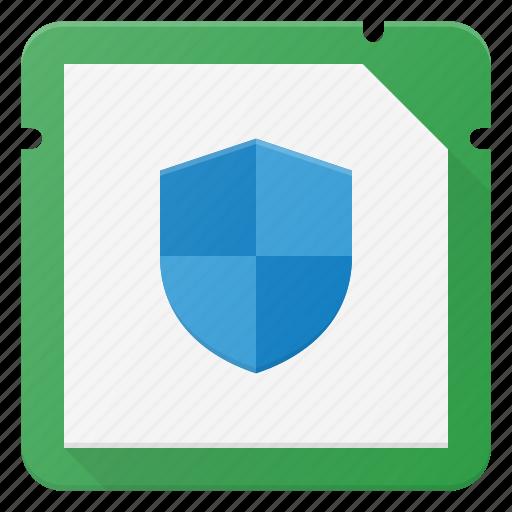 chip, cpu, microchip, processor, protect icon