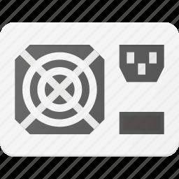plug, power, source, ventilate icon