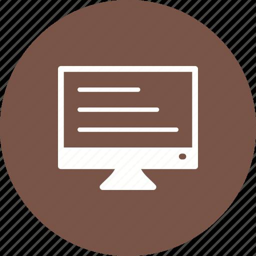 analytics, content, data, internet, online, production, workstation icon