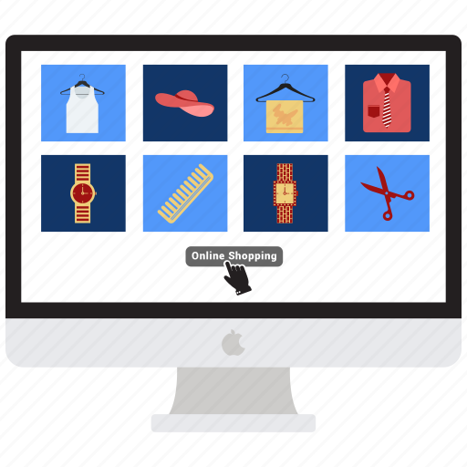 computer, display, imac, mac, monitor, online shop, online shopping icon