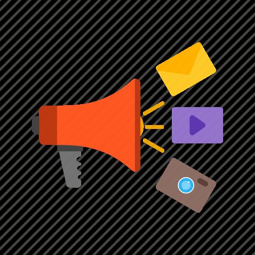advertising, business, digital, internet, marketing, media, online icon